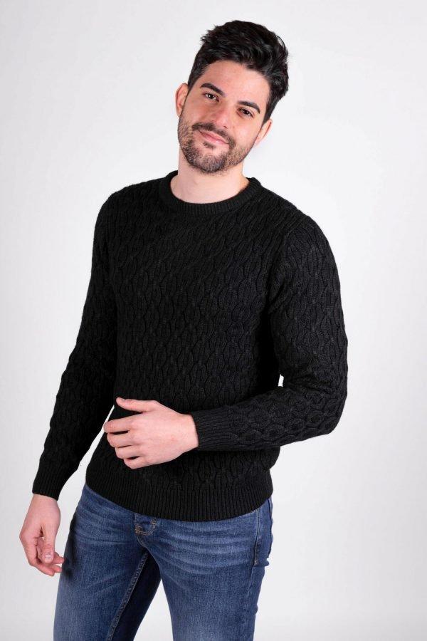 winter black sorbino sweater